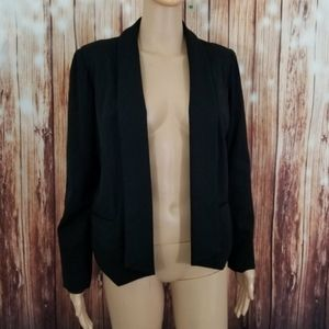 Chico's Blazer 0 Black Open Front S